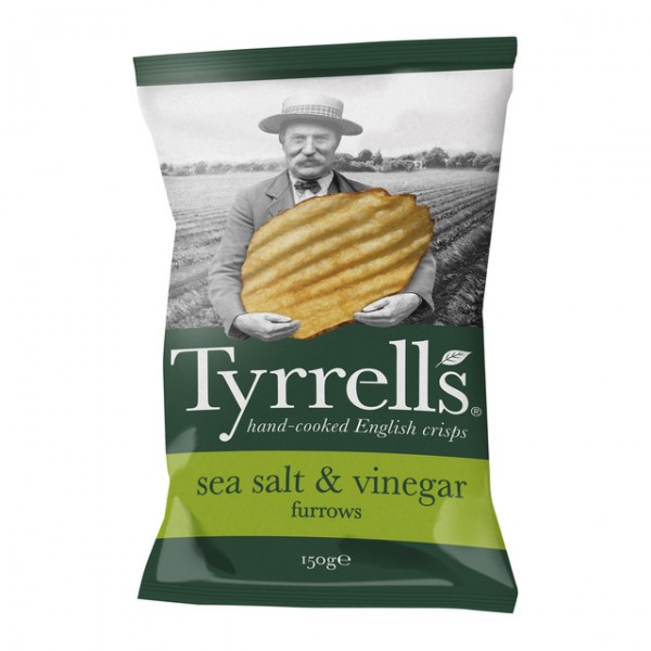 Tyrrels salt & vinegar 150 g