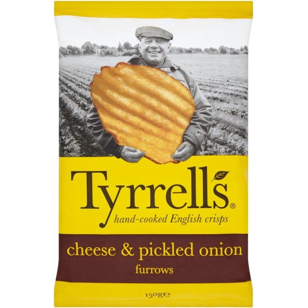 Tyrrels cheese & onions150 g