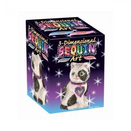 Gato Sequin art en 3D