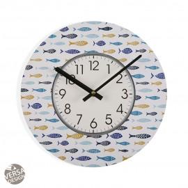 Reloj madera Blue Bay