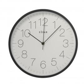 Horloge cuisine noir