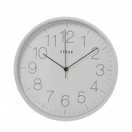 Horloge cuisine blanc