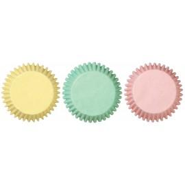 100 cápsulas mini cupcakes pastel