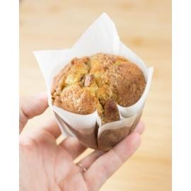 24 cápsulas muffin blancas