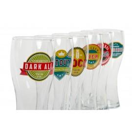Set de 6 vasos de cerveza