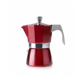 Cafetera evva roja 6 tazas