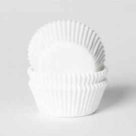 60 cápsulas mini cupcakes blancas