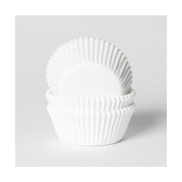 50 cápsulas mini cupcakes blancas