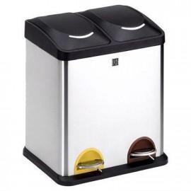 Cubo reciclaje 2 comp. 30 l