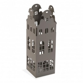 Paragüero edificio gris