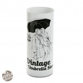 Porte parapluie vintage blanc