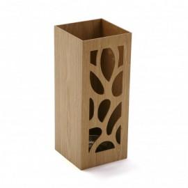 Paragüero madera hojas