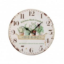 Reloj Pared Hierbas