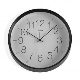 Reloj pared negro 30 cms.