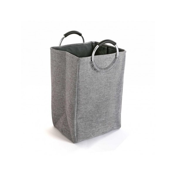 Cesto ropa sucia gris con asas