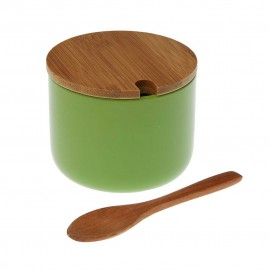 Azucarero cerámica y bambú verde