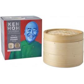 Vaporera Ken Hom Bambú 2 niveles