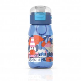 Botella Zoku flip niños Azul 465ml