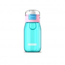 Botella Zoku flip niños Turquesa 465ml