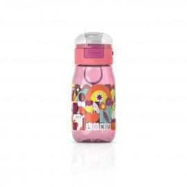 Botella Zoku flip niños Rosa 465ml