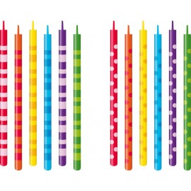 Velas para tarta de cumpleaños 10 cm