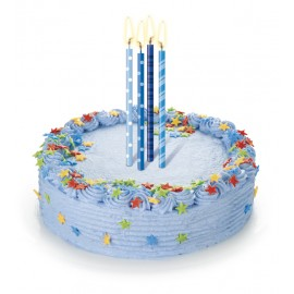 Pack 12 velas para tarta de cumpleaños 12 cm