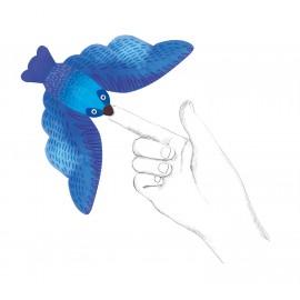 3 pajaros equilibristas azules
