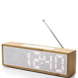 Radio reloj despertador Lexon Titanium Banbú