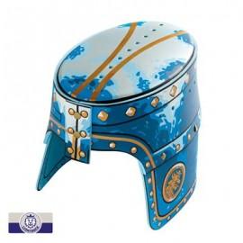 Casque de chevalier bleu Liontouch