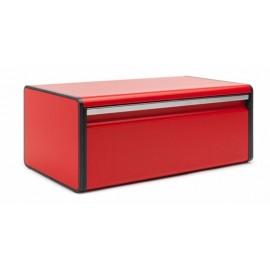 Boîte à pain abattant rouge