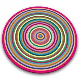 Tabla de cristal circular Coloured Rings