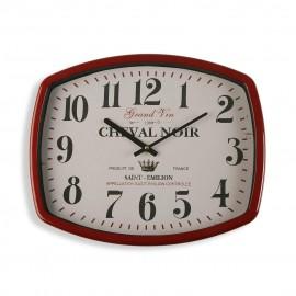 Horloge murale 40 x 43 cms. rouge