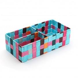 Cesta multicolor 3 compartimentos