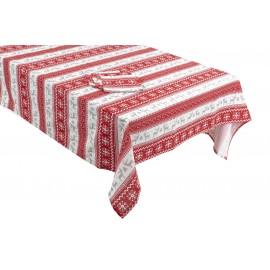Mantel rojo 150 x 250 ( 8 servilletas)