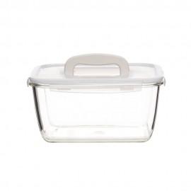 Contenedor c/tapa y asa- vidrio rectangular 4.0L