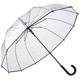 Paraguas reborde negro transparente auto Smati
