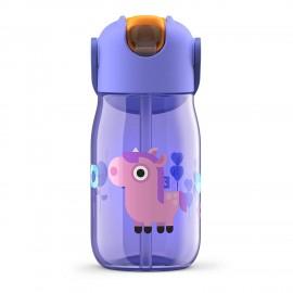 Botella niños pajita 400 ml Unicornio