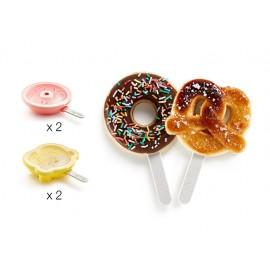 Donut & Pretzel helados (4 uds)
