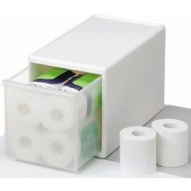 Cajón modular mediano alto 25x46x28 cm- blanco