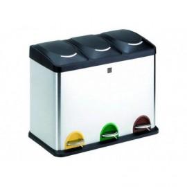 Cubo reciclaje 3 comp. 45 l