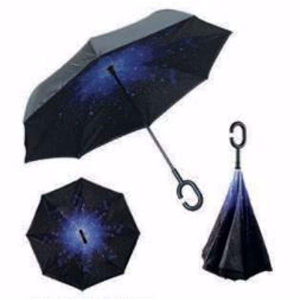 Paraguas noche estrellada reversible anti viento