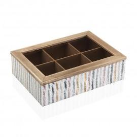 Caja de Te madera Corduroy