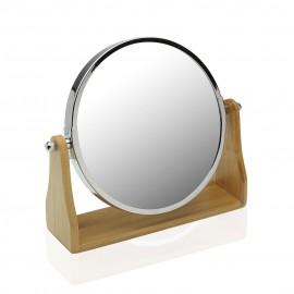 Espejo doble cara 7x aumento con pie bambu