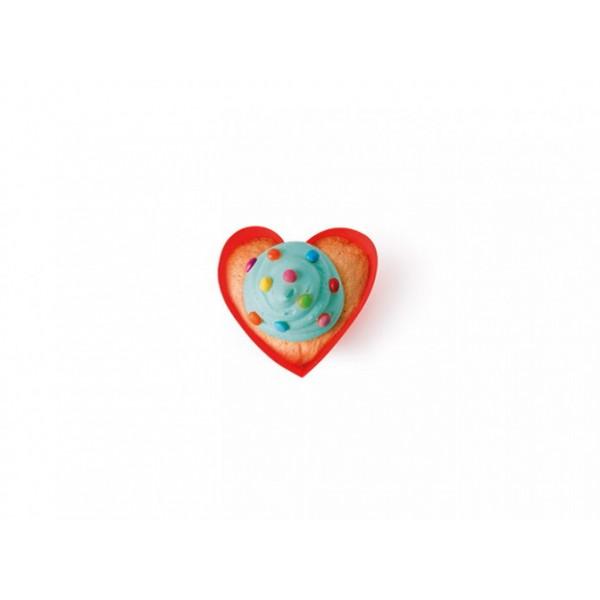 6 moldes para muffins con forma de corazón de Agatha Ruiz de la Prada