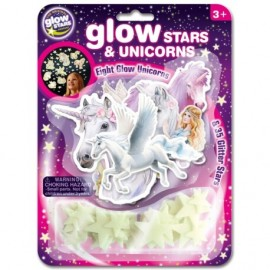 Licornes et étoiles phosphorescentes