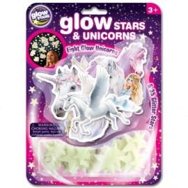 Unicornios y estrellas fluorescentes