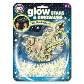 Dinosaurios y estrellas fluorescentes