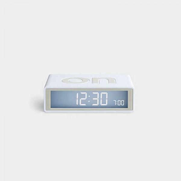 Reloj despertador Lexon Flip+ blanco