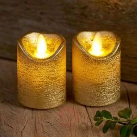 2 x velas led decorativas Sirius Sara mini gold