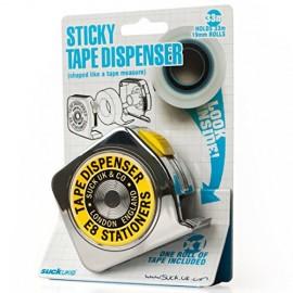 Dispensador de cinta adhesiva con forma de cinta métrica